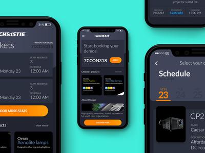 Christie Digital Ticket App