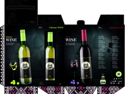 packing for wine. vector vector design branding illustration