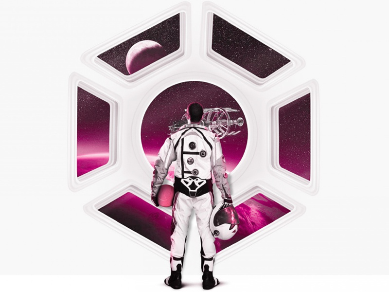 Finally here! Hello dribbble! first shot astronaut ship space thanks invitation shot first debut ball dribbble illustration