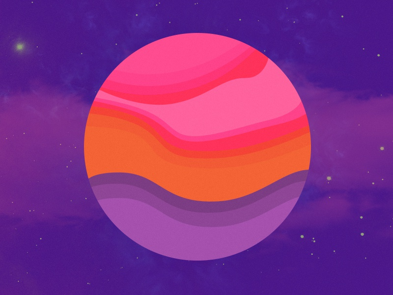 Color Layered Planet graphic design nice fun planet