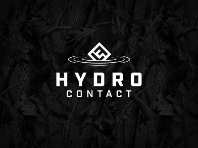 Hydro Contact Logo ripples camouflage hydrographic hydro logo