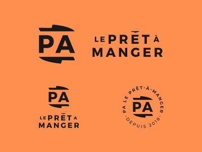 PA Le Prêt-À-Manger - Meals Delivery knives knifes meals branding delivery food logo