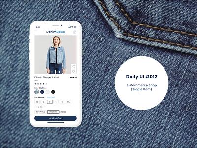 Day 012 - E-Commerce shop (Single item) e-commerce shop daily ui dailyuichallenge dailyui