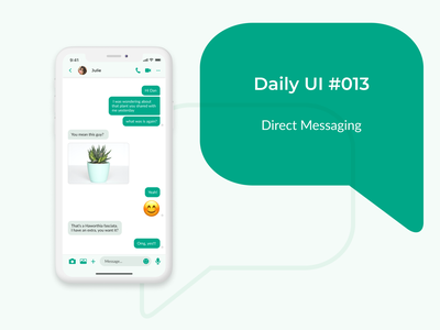 Daily UI 013 - Direct Messaging direct message directmessage daily ui dailyuichallenge dailyui