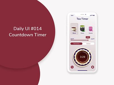 Daily UI 014 - Countdown Timer tea countdowntimer timer daily ui dailyuichallenge dailyui