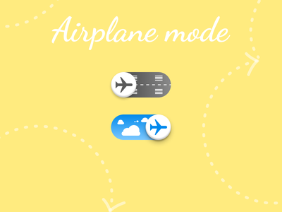 Daily UI 015 - On/Off Switch on off switch toggle switch airplane daily ui dailyuichallenge dailyui