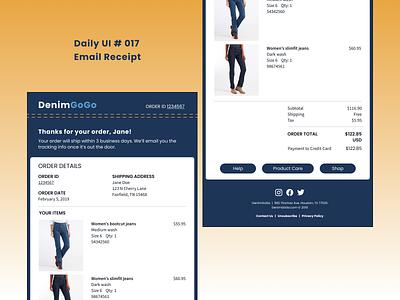 Daily UI 017 - Email Receipt email receipt daily ui dailyuichallenge dailyui