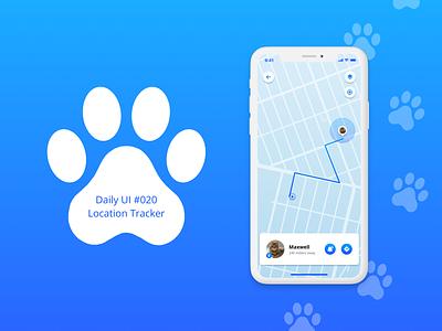 Daily UI 020 - Location Tracker location tracker daily ui dailyuichallenge dailyui