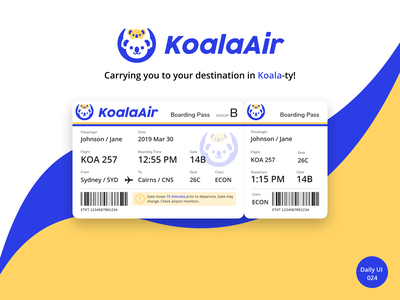 Daily UI 024 - Boarding Pass boarding pass airplane branding logo daily ui dailyuichallenge dailyui
