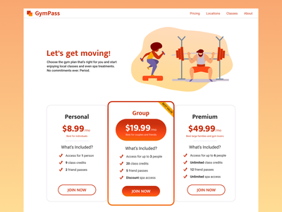 Daily UI 030 - Pricing gym pricing daily ui dailyuichallenge dailyui