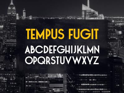 Tempus Fugit Typeface