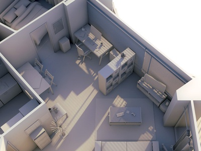 My apartment france modeling lights cinema 4d apartment flat 3d rennes c4d