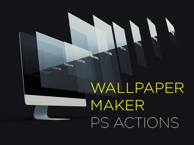 Wallpaper Maker wallpaper photoshop actions sizes export image crop resize automatic