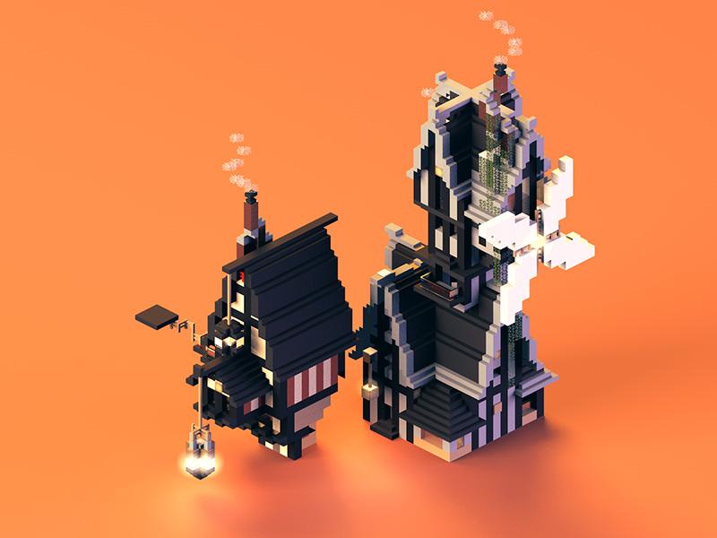 Steampunk Houses By Jeremy Paul On Dribbble