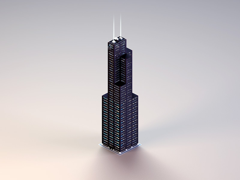 . Willis Tower by Jeremy Paul on Dribbble