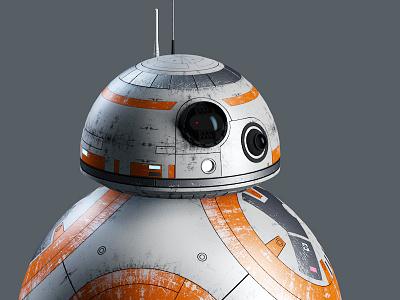 BB8 the force awakens star wars character c4d 3d cute droid bb8 tfa