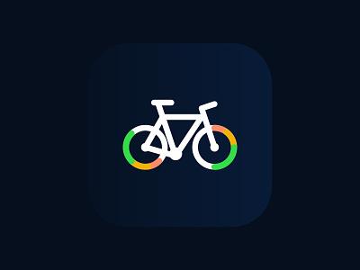 Cyqle Icon colorful gradient flat wheel icon ios app bike public