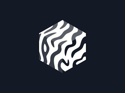 Zebra cube savannah cube app identity brand logo zebra