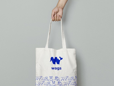 Wags Tote Bag wags branding vector design icon logo illustration icons