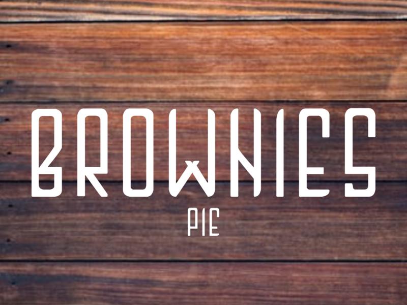 Brownies pie typeface sans serif font typography