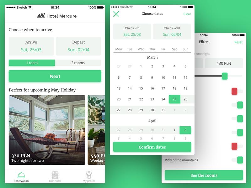Hotel Booking App Ui by Bartosz aczek Dribbble