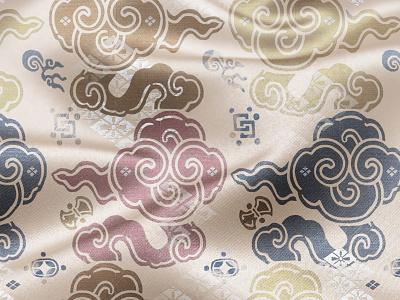 Gentle clouds japan photoshop textile print textile print textile design illustration surface design pattern design fabric design art