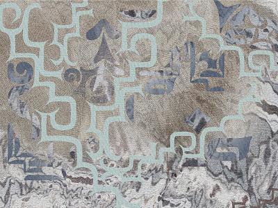 Ainu graphic illustration textile print artwork surface design design fabric print textile textile design