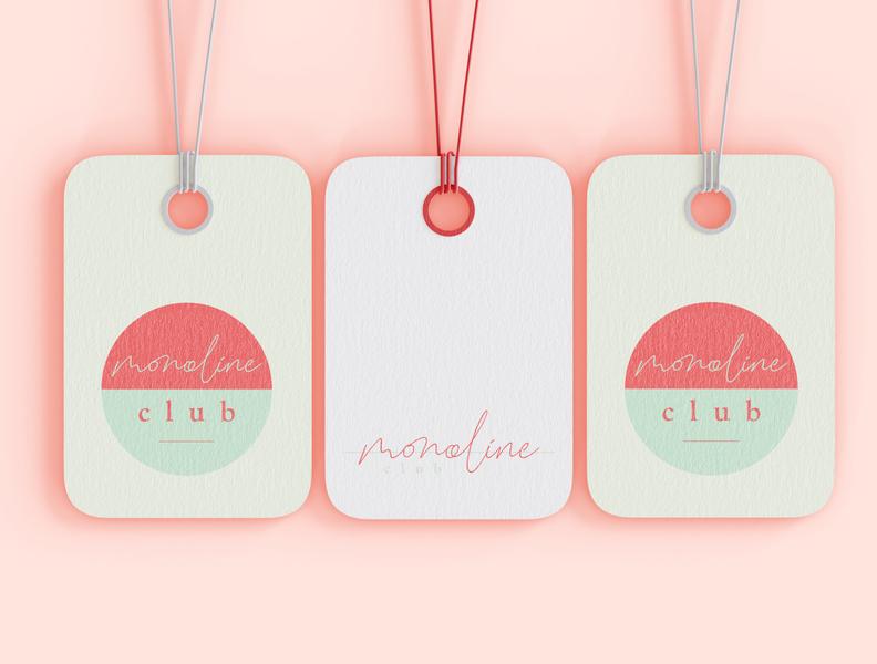 monoline club | tags red mint tag tag design card design card logo inspiration identity feminine logo feminine design branding design branding brand design blog adobe illustrator