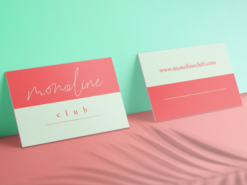 business card simplicity simple design typography type simple line mint business cards business card design business card minimalistic minimal identity feminine design blog branding design branding brand design adobe illustrator