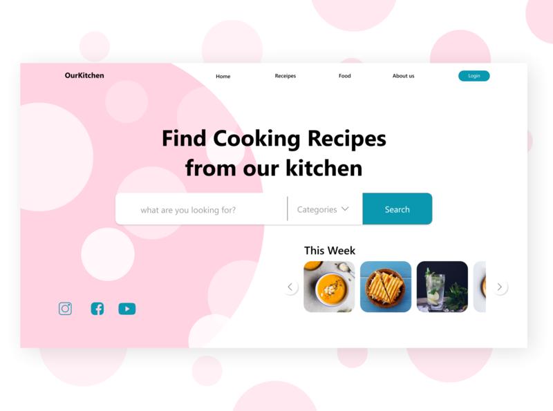 Web Recipe branding website minimal web ux design ui