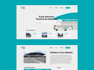 Terminal Online website web ux ui minimal design branding