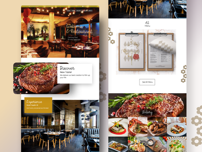 E-Restaurant Landing Page luxury website restaurant landing page design landing page landingpage website design web design web