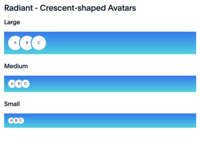 Codepen version of the Radiant Avatars avatar crescent css