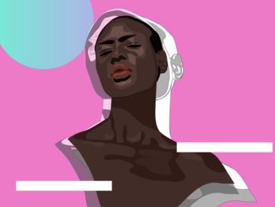 Illustration pink graphic illustration graphic design illustration design