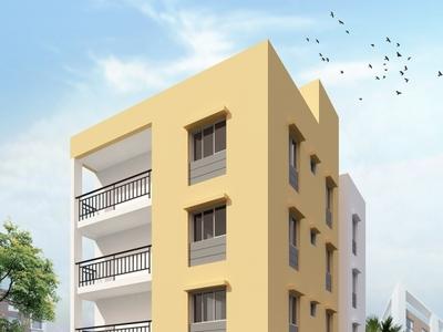 Apartment realistic exterior rendering exterior design