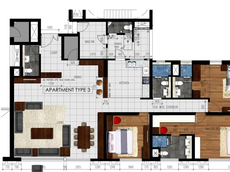 2D FLOOR PLAN Rendering plan rendeing