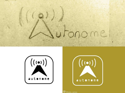 Autnome Day 5: Driverless Cars logo #dailylogochallenge onward autonome driverless cars car logo
