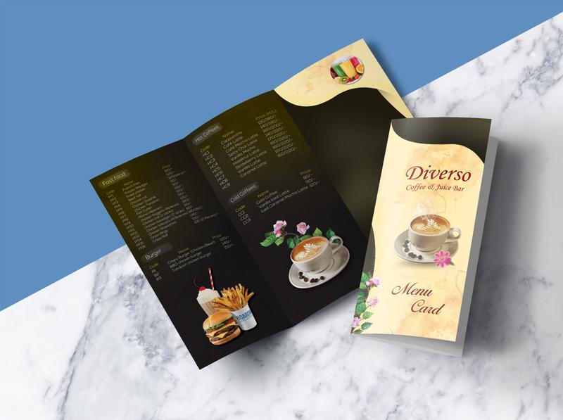 Menu Card design illustration menu card