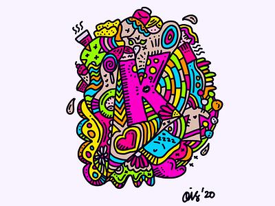 K for Karina. doodle procreate