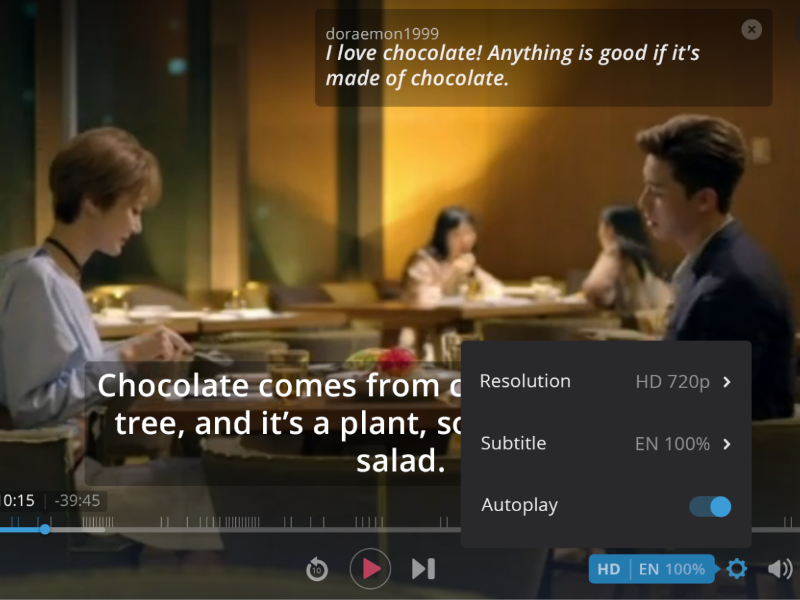 Viki.com Video Player made with invision flash html5 redesign player video viki