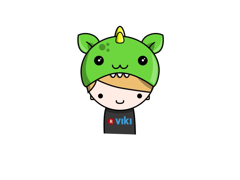 Viki fan with dragon hat