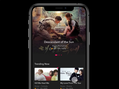 Video App Dark Theme made with invision