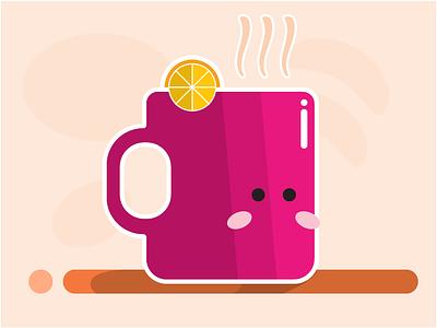 Glass Kawaii with Ginger and Lemon character design simple illustration kawaii