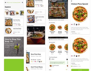 Food App Concept sketchapp clean simple mobile