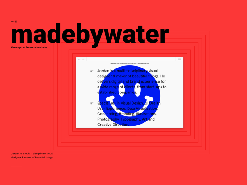 Made by Water presentation visual design concept ui brand typogaphy interface