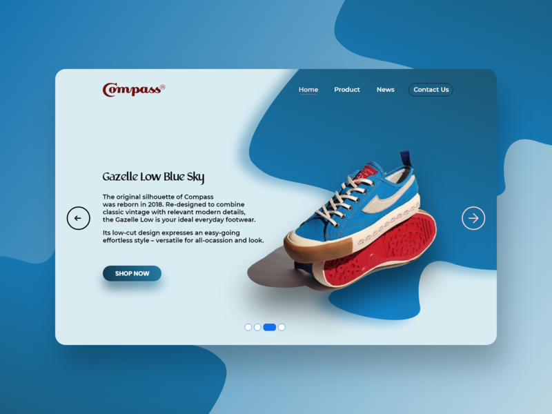 "Shop Catalog Sneakers web Design ""Compass"" webdesign website typography ux catalogue design sneakers shopping app shop catalog design reservation logo ui branding design app"