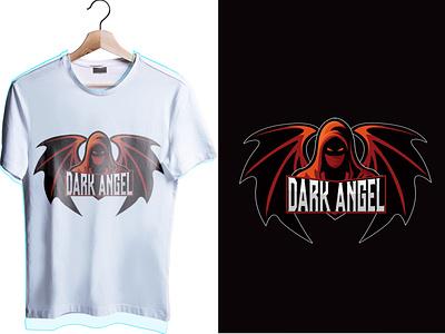 dark angel esport logo t-shirt darkangel esportlogo logo