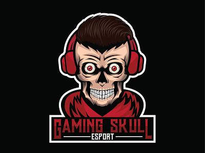 esportlogo skull esports cool logo art designgraphic design ilustration headphone skull logo esportlogo