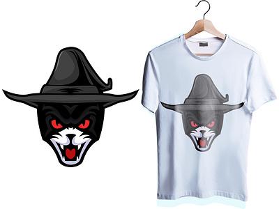 black cat haloween art ilustration designgraphic design animal blackcat esports logo esportlogo