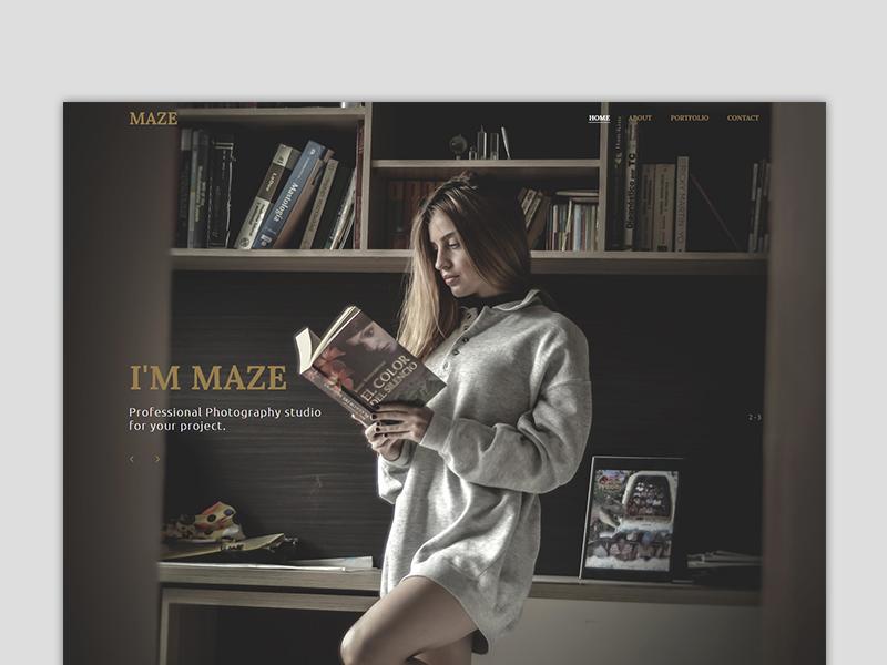 Maze Photography Portfolio Muse Template By Yahdi Romelo